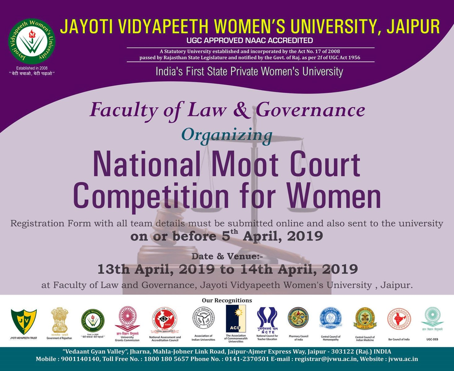 Jayoti Vidyapeeth Women's University, JVWU, University in